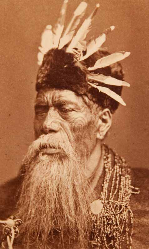 Portrait of a Maori Chief , 19th century. Albumen