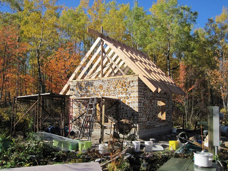 220 best images about cabin building tips and ideas on for Cordwood house foundation