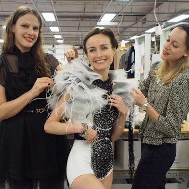 Fashion Designer Gwendolynne Burkin working with Choreographer Alice Topps for The Australian Ballet Bodytorque