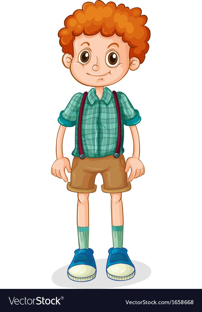 A Young Boy With A Curly Hair Vector Image On Vectorstock Easy Cartoon Drawings Hair Vector Curly Hair Styles