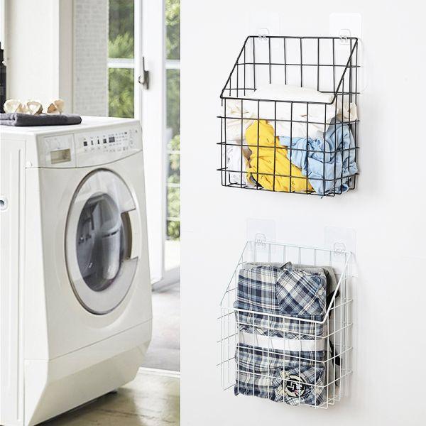 22 95 49 Dto Cesta De La Colada Del Cuarto De Bano Housaid En La Pared Cesta De Almacenamiento De La Toall Toilet Clothes Storage Baskets Towel Storage