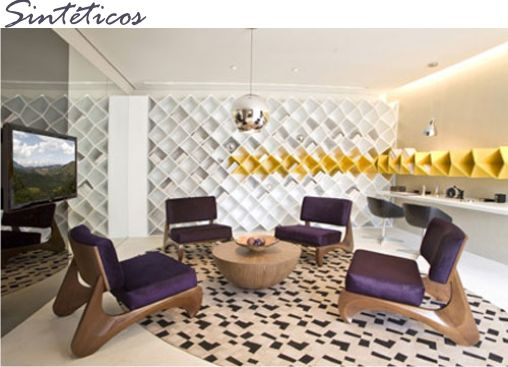 tapetes sintéticos: nylon