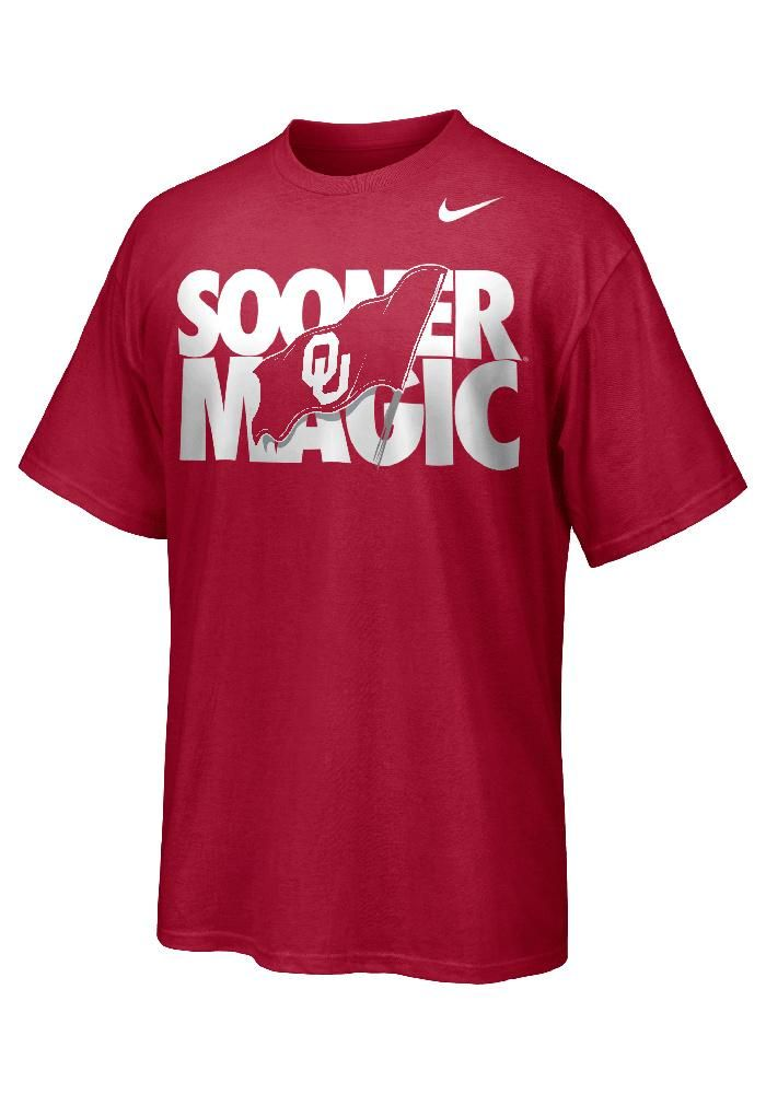 Oklahoma Sooners Nike T-Shirt - Mens Crimson Red Swagger T-Shirt…