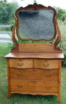 Antique Dresser For Bedding Storage