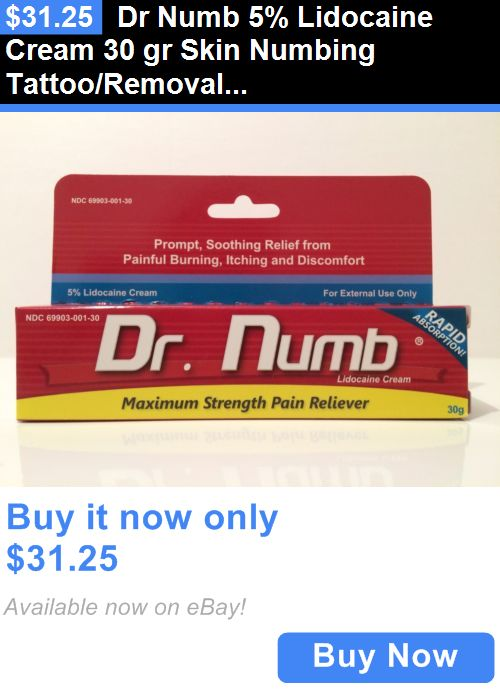 Tattoo Supplies: Dr Numb 5% Lidocaine Cream 30 Gr Skin Numbing Tattoo/Removal Waxing Anorectal BUY IT NOW ONLY: $31.25