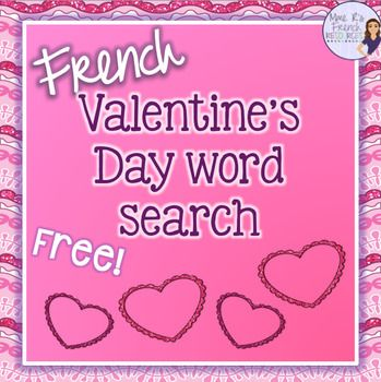 free french valentine 39 s day word search print off and use any time you need a quick activity. Black Bedroom Furniture Sets. Home Design Ideas