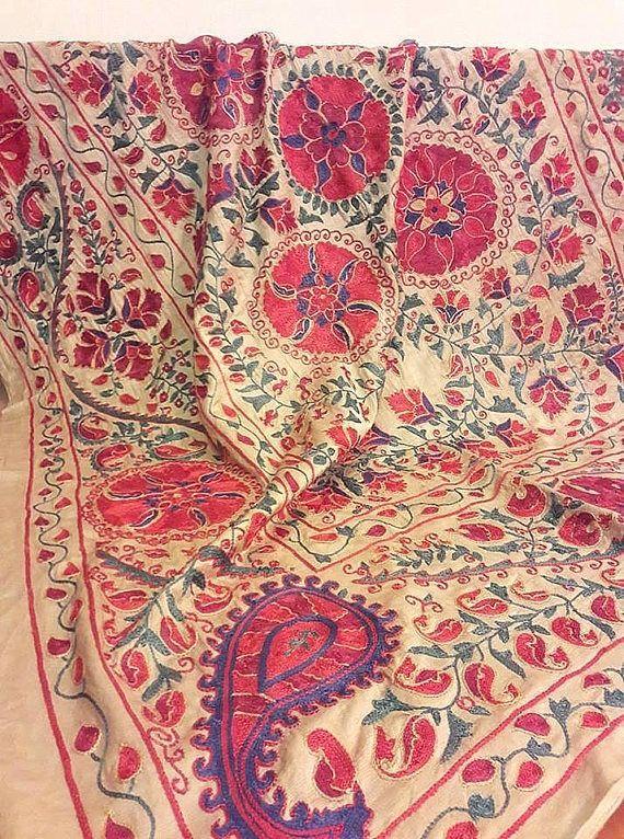 Reserved.Suzani  silk on silk handmade from Bukhara
