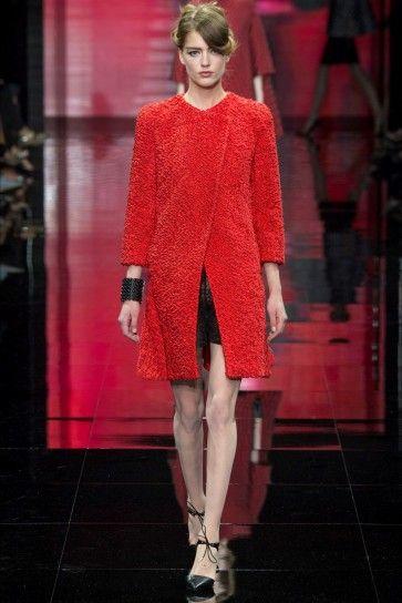 Cappotto rosso Armani
