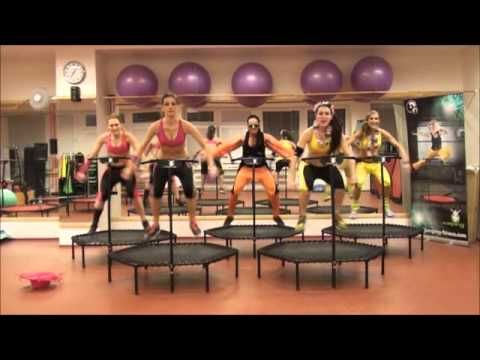 Zumba on trampolines? Wish we had this available locally.