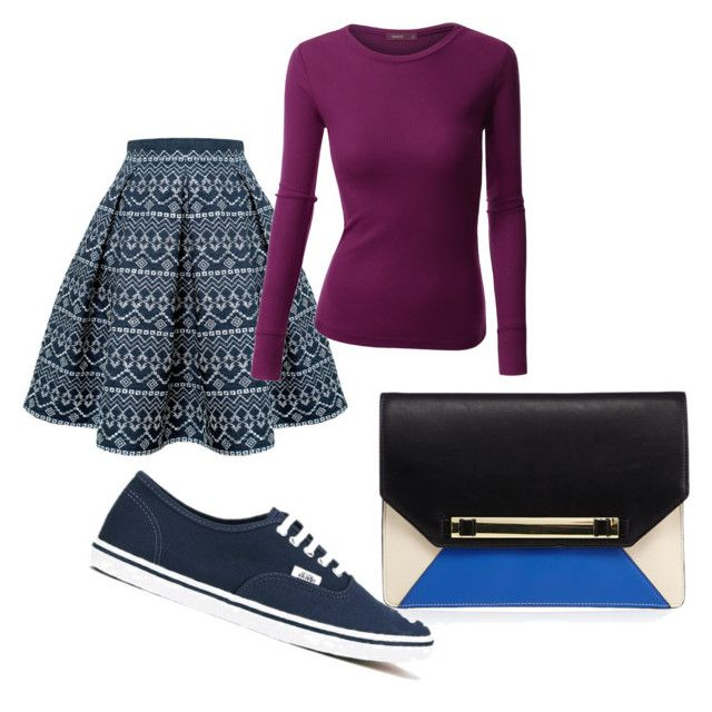 """""""simple day"""" by thisismedika on Polyvore featuring Rumour London, Doublju and Vans"""