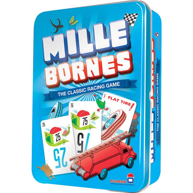 Mille Bornes Card Game Classic French Auto Car Racing Mile Bourne Tin Holder NEW    eBay