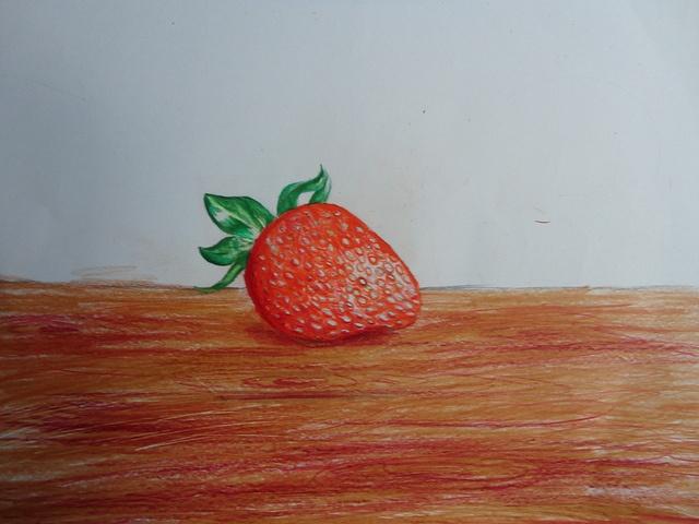 Pencil Crayon strawberry
