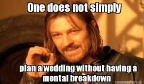 wedding planning memes