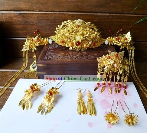Traditional Korean Accessories | Traditional Chinese Handmade Wedding Hair…