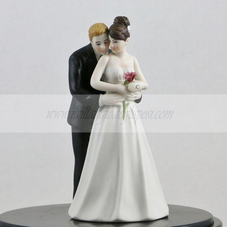 Romantico cake topper/ Romantic cake topper Disponibile/Available http://www.ilvillaggiodeglisposi.com/