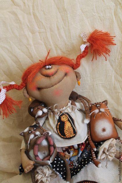 Кошкоф надо много!... - разноцветный,текстильная кукла,ароматизированная кукла