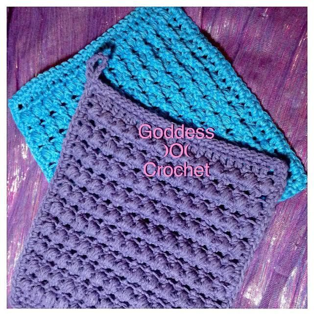 Thick And Bumpy Potholder Free Crochet Pattern Ribbed