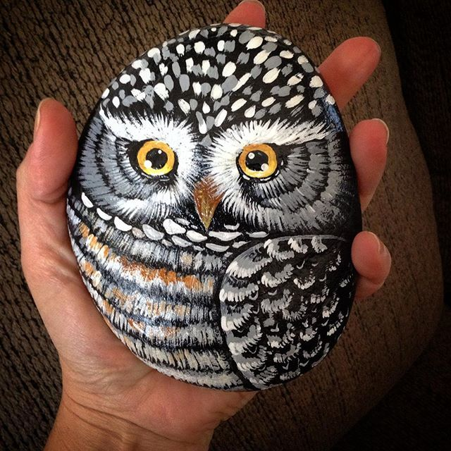 #painedstones#decor#foresttribejewelry#riverstones#owl