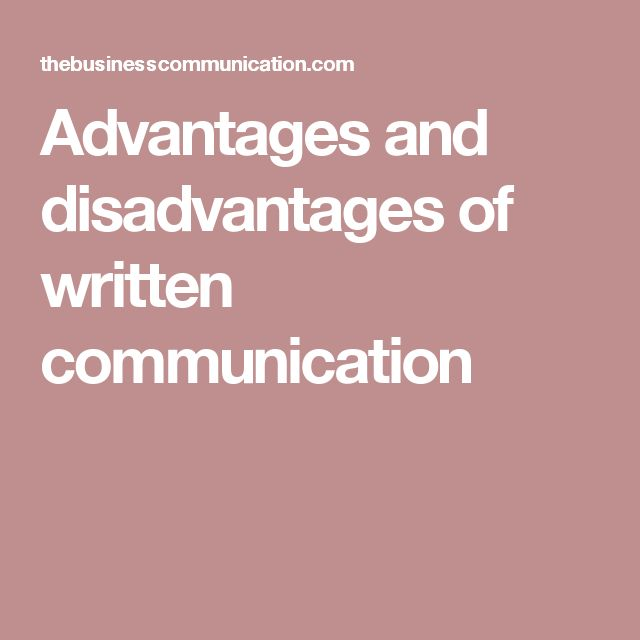 disadvantages of group communication It was found that 56% of athletes reported possible disadvantages to high social  cohesion,  relate of group cohesion is communication (carron & hausenblas.