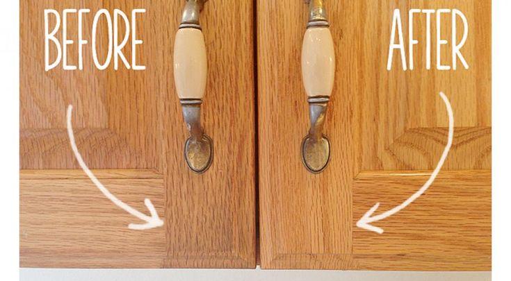 Πως να καθαρίσεις τα λίπη από τα ξύλινα ντουλάπια της κουζίνας