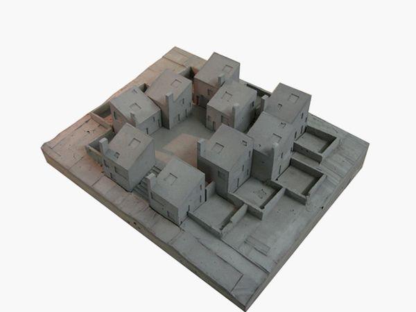 Europan 10 / Concrete model /  Donal Colfer Architects