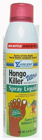 HONGO KILLER ULTRA LIQUID SPRAY new formula proven clinically for the effective treatment of most: • Athlete's Foot (tinea pedis) • jock itch (tinea cruris) • ringworm (tinea corporis). Relieves the following accompanying conditions: itching, cracking, burning, scaling, discomfort with 2% Miconazole Nitrate in spray aerosol.