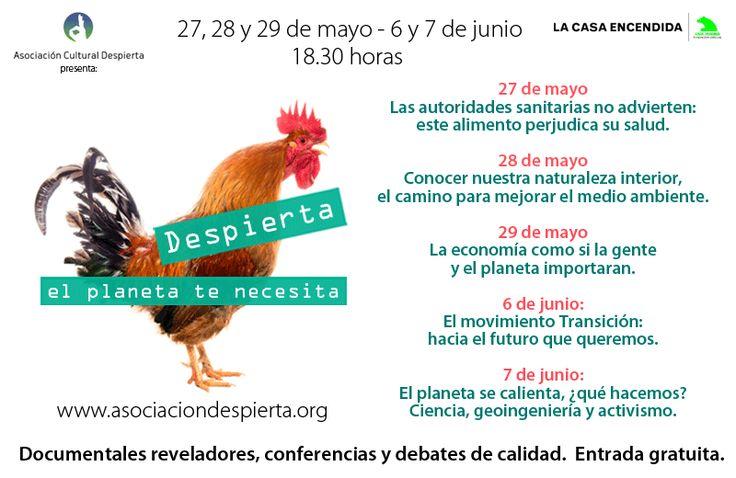 V edición del ciclo de cine y debate sobre ecología y sostenibilidad Despierta, el planeta te necesita. 27-29 mayo/ 6-7 junio en La casa encendida de Madrid