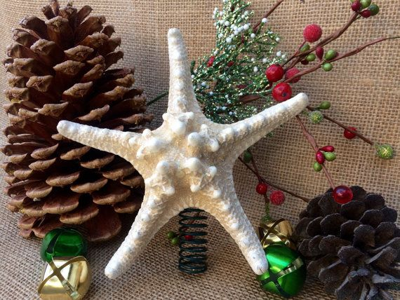 Starfish Tree Topper Christmas Tree Topper by SeaToLandDesigns