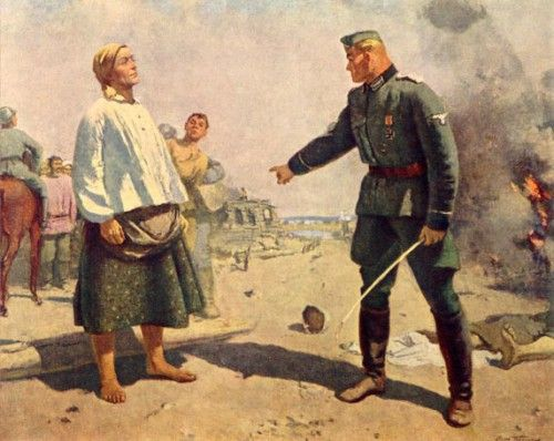 """С.В. Герасимов """"Мать партизана. 1943 г."""" 1949 г. - 1950 г."""