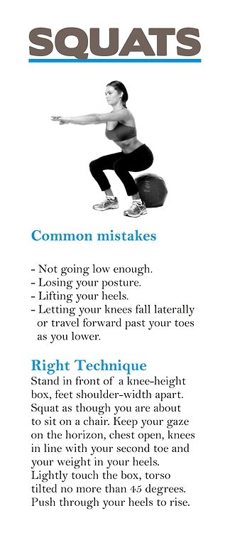 How to squat properly.