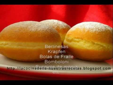 Berlinesas, bolas de fraile ~ Pasteles de colores
