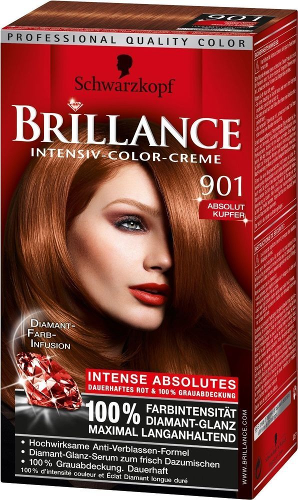 coloration schwarzkopf brillance intense n 901 absolute cuivre neuf - Coloration Schwarzkopf