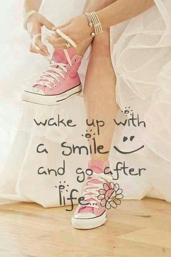Because I did wear pink chucks in my wedding dress and I need to wake up with a smile more!