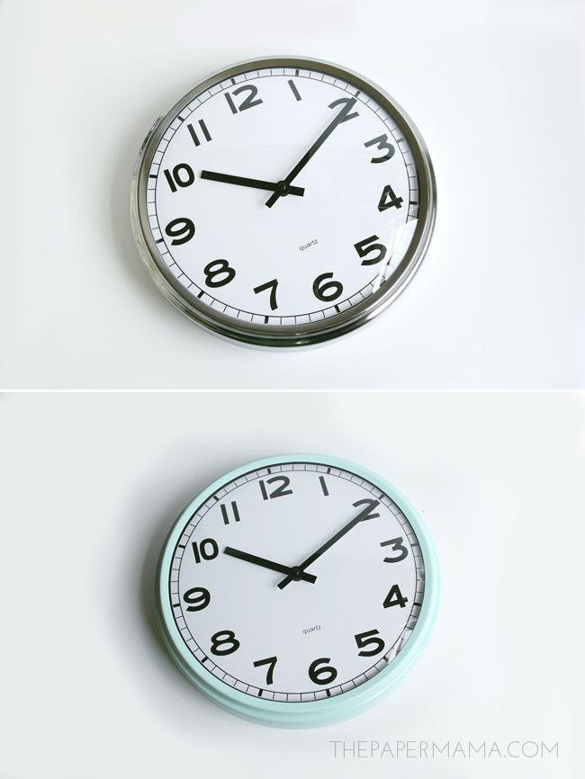 Ikea hack: een nieuwe klok in een retro jasje - Roomed | roomed.nl