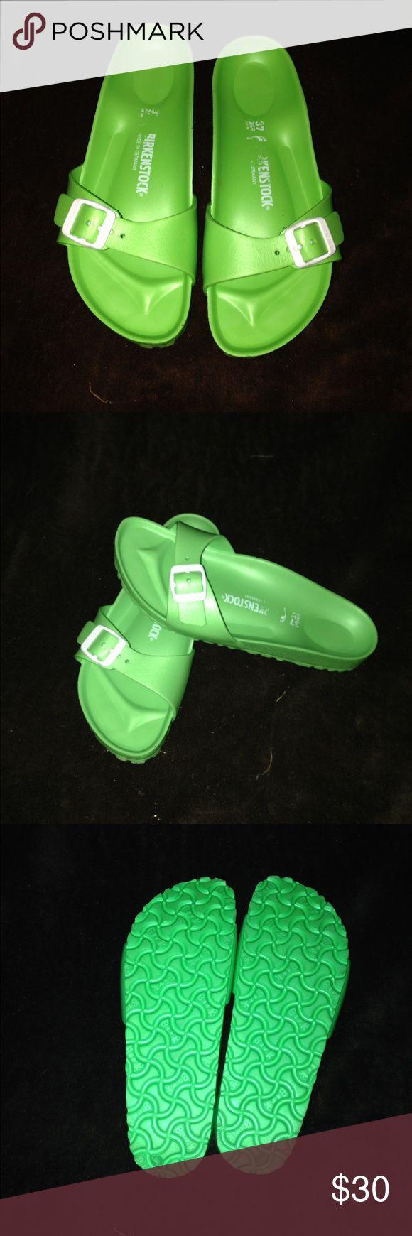 Birkenstock Neon green Madrid style size 37 trade value is retail price Birkenstock Shoes Sandals