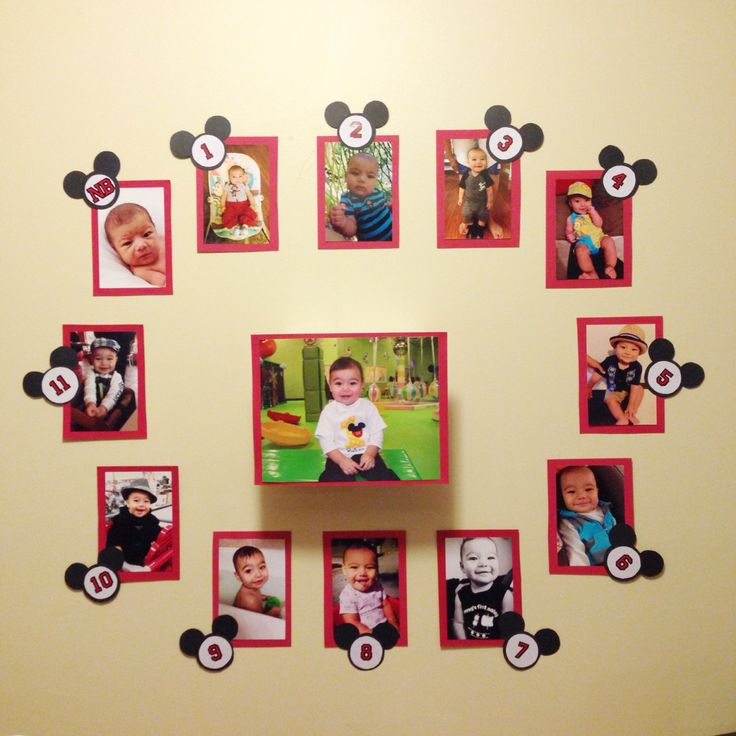 Mickey Mouse First Year Party Wall Display by BailensPerfectParty, $22.00
