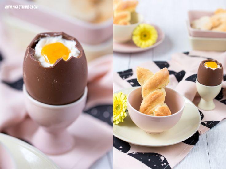 Gefülltes Ei mit Mascarpone und Maracuja-Soße und Hefe-Hasen! * Nicest Things