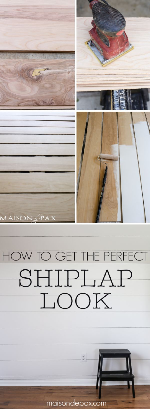Looking for a perfect weekend project? Try this easy DIY tutorial on how to get the perfect shiplap look. It's a simple and creative way from Rachel of @maisondepax to keep your bedroom, kitchen, or bathroom up-to-date—while adding a rustic and textured feel to your space.