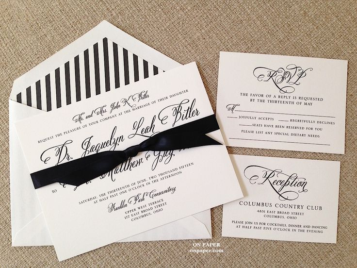 wedding invitation for jacquelyn and matt on paper columbus ohio