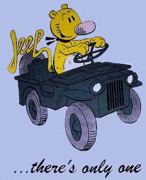 "https://flic.kr/p/9Mpnjr | Eugene the Jeep cartoon character | Perhaps part of the inspiration of the ""Jeep"" vehicle name?"