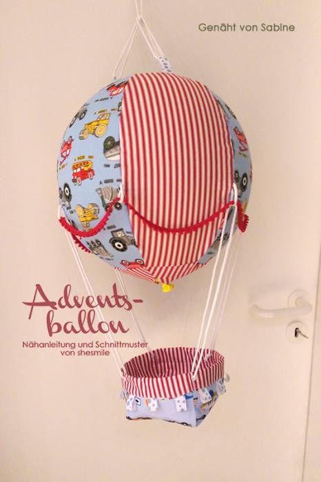 Adventskalender -Adventsballon- (Nähanleitung und Schnittmuster von shesmile) hier genäht von Sabine.