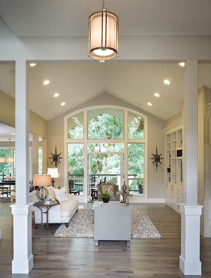 The Dream Pinterest Living Room Has Tall Ceilings Gray Walls