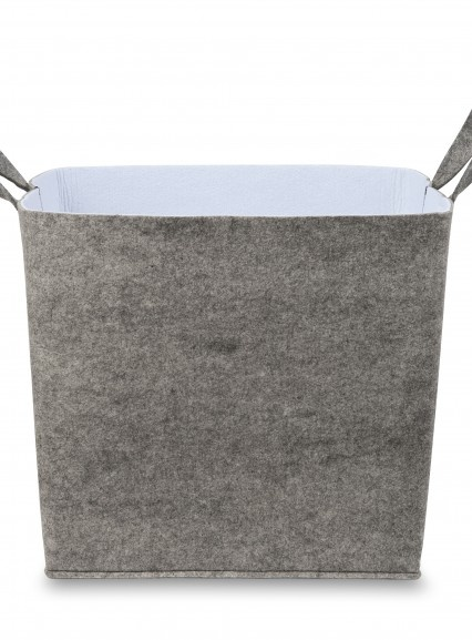 Grey Felt storage basket