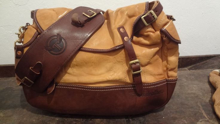 Hunter bag.....Combination of two 100% veg   leathers ..