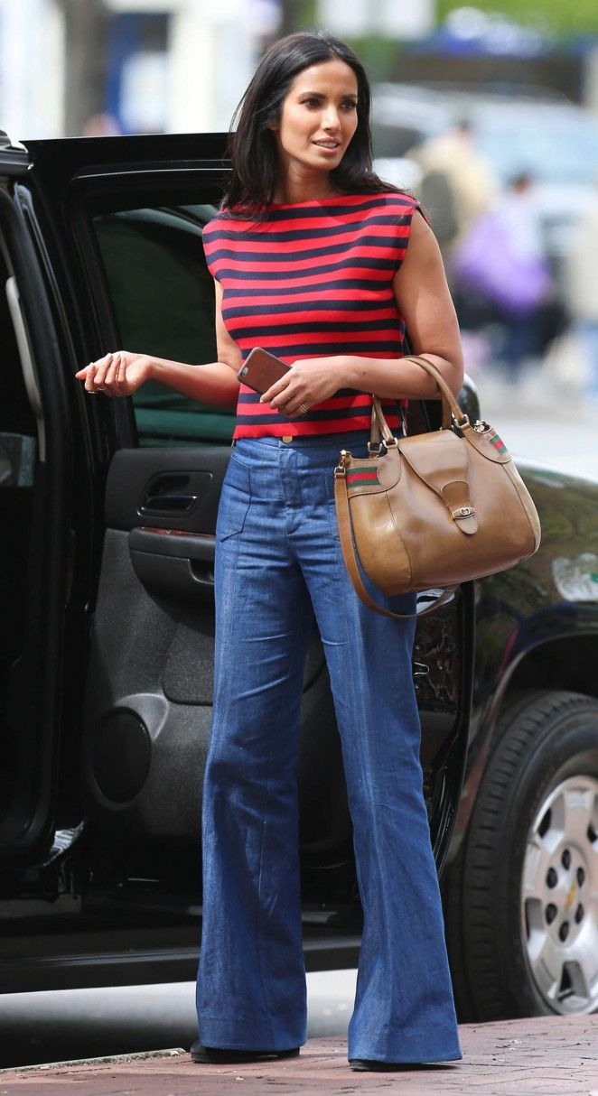 70s flair! Padma Lakshmi was spied out and about in New York City.