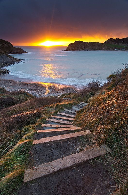 The Path To Enlightenment by Paul Haynes on 500px #Lulworth_Cove #Dorset #England