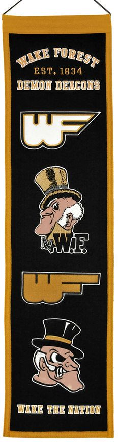 NCAA Wake Forest Demon Deacons Heritage Banner
