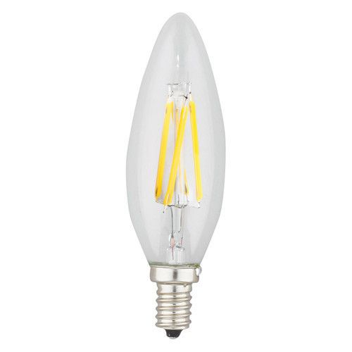 spotlite candle torpedo led filament light bulb candelabra base 4w 40 u2013 led light bulbs