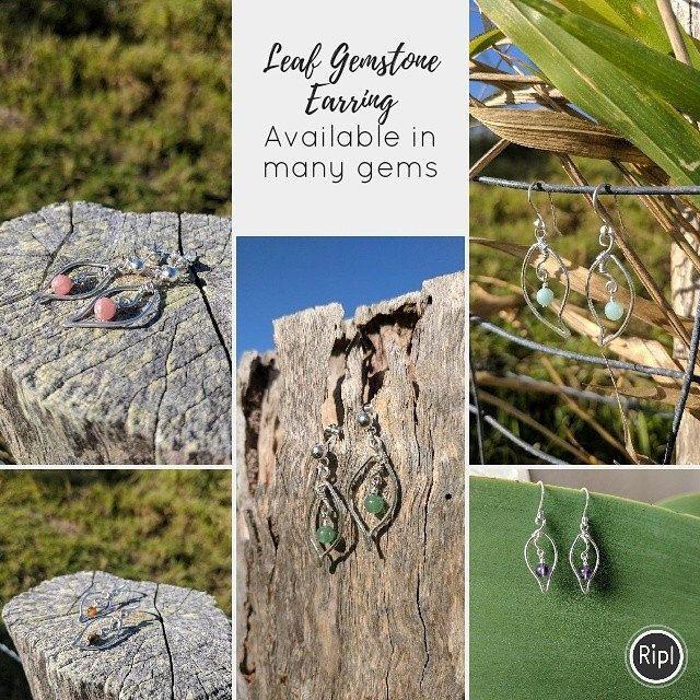 Leaf style #gemstone earrings #handmade #earrings #jewellery #boho #etsystore #beamorfinedesign #findamaker   via @RiplApp