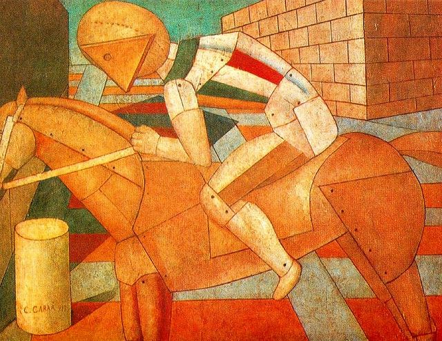 carlo carra paintings | Carra, Carlo (1881-1966) - 1910s Horse and Rider (Private Collection ...